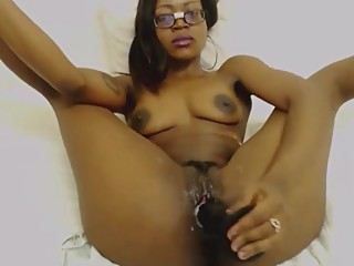 African playful ass claping cuckold squirting young pussy