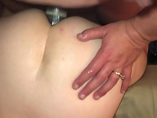 Chubby wife strapon fucking sissy cuckold
