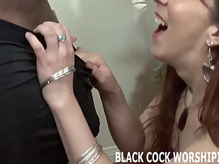 His big black cock is going to fill me ass with cum