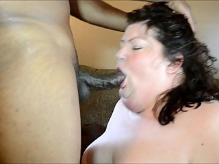 QoS Kristy Alley BBW Hotwife sucking a BBC, hubby filming it