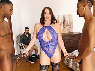 Maggie Green Interracial Threesome - Cuckold Sessions
