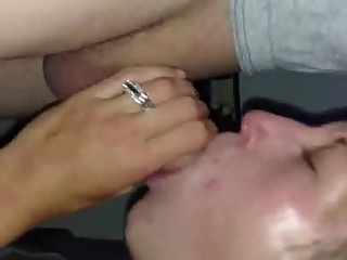 Wife deepthroat and swallow for buddy