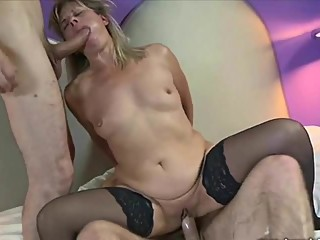 lisa shared two lovers brutal sex - cuckold
