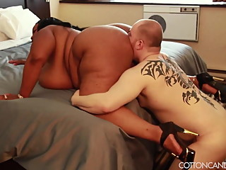 Sexy Exotic Ebony BBW Dominates White Cuckold