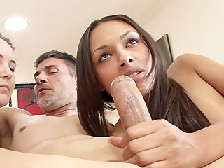 Woman watches as her husband fucks his mistress Bethany Benz