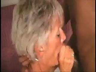 Mature gets a facial