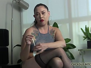 You are just a useless cuckold bitch to me