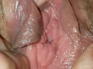 Wife at 17 fingering her juicy pussy