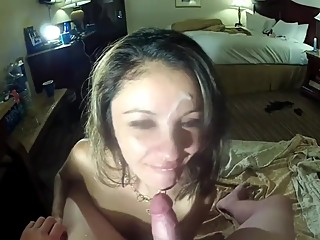 3 months pregnant wife blows 3 guys then sucks off cuck husband