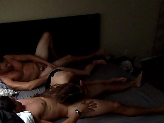 Milf has First Threesome