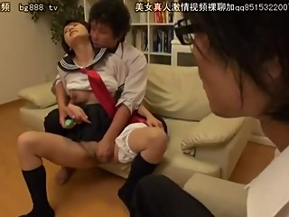 Japanese brother cuckold by stepSister