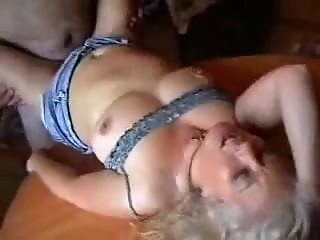 Wife gets fucked on kitchen table
