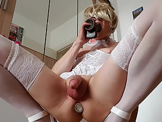 SISSY CUCKOLD FAGGOT EVIL MOMMY CATHETER CHALLENGE CH24 part4
