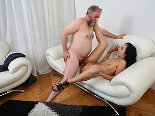Tracy cant believe her luck when the old guy decides he wants to fuck her