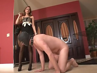 Mistress Riley Redi - chastity belt and denial orgasm, training for cuckold
