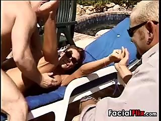 Sexy Housewife Cuckold Outdoors