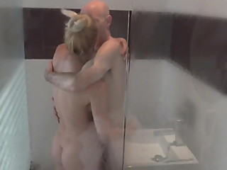 MEIN perverser ficker and his FICKHURE in the shower