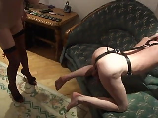 Male Slave gets a punishment