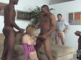 Husband watching his wife fucked by BBCs