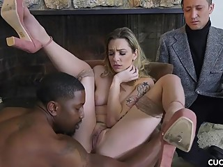 Dahlia Sky is Tired of Her Worthless Husband And Takes Advantage of a BBC