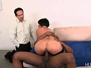 Shay Fox sucks and fucks a big black cock!