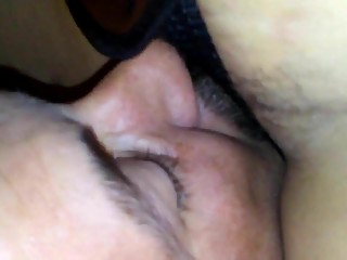 Cuckold sucking my strapon cock
